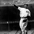 Joe Dimaggio Working Out At Yankee by New York Daily News Archive