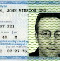 John Lennon Immigration Green Card 1976 by Daniel Hagerman