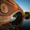 John Weeks Bridge Sunset Reflection Charles River Cambridge Ma Harvard Square by Toby McGuire