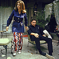 Johnny Cash & Wife 2june Carter by Michael Rougier
