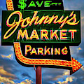 Johnny's Market Neon Sign by Robert FERD Frank