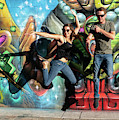 Jumping For Street Art by Judi Dressler