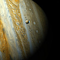 Jupiter And Europa Enhanced by Weston Westmoreland
