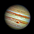 Jupiter And Ganymead Shadow Outer Space Image by Bill Swartwout Fine Art Photography