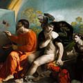 Jupiter  Mercury And Virtus Or Virgo  by Dosso Dossi