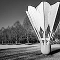 Kansas City Shuttlecock Sculpture In Infrared Monochrome by Gregory Ballos