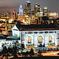 Kansas City Skyline Twilight - Square Format by Gregory Ballos