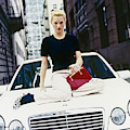 Kate Moss Sits On A Mercedes-benz Sl500 by Arthur Elgort