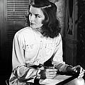 Katharine Hepburn In Early Portrait by Alfred Eisenstaedt