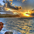 Kauai Summer Sunrise Maha'ulepu Beach Kauai Hawaii Art by Reid Callaway