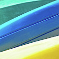 Kayak Angles And Colors Abstract II by Sharon Eng