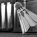 Kc Shuttlecock At Nelson Atkins Museum - Monochrome Edition by Gregory Ballos