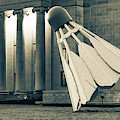 Kc Shuttlecock At Nelson Atkins Museum - Sepia Edition by Gregory Ballos