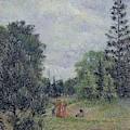 Kew Gardens, Crossroads Near The Pond, 1892 by Camille Pissarro