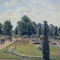 Kew Gardens - Path Between The Pond And The Palm House, 1892 by Camille Pissarro
