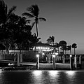 Key Largo Pier Dusk Florida Black And White by Toby McGuire