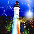 Key West Lightning Light House by Jas Stem