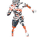 Khalil Mack Chicago Bears Pixel Art 1 by Joe Hamilton