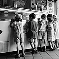 Kids At Ice Cream Counter by Michelle Quance