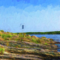 Killbear Lighthouse - Painterly by Les Palenik