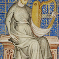 King David From The Bible Historiale by French School