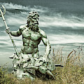 King Neptune Guards The Cape Charles Beach by Bill Swartwout Photography