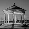 King Park Gazebo And Pell Bridge Sunset Newport Ri Rhode Island Black And White by Toby McGuire