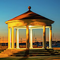 King Park Gazebo And Pell Bridge Sunset Newport Ri Rhode Island by Toby McGuire