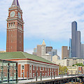 King Street Station Clock Tower Seattle Washington R1421 by Wingsdomain Art and Photography