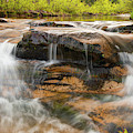 Kings River Double Falls - Arkansas Ozark National Forest by Gregory Ballos