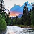 Kings River Sierra Nevada Sunset  by Kyle Hanson