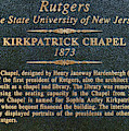 Kirkpatrick Chapel - Commemorative Plaque by Allen Beatty