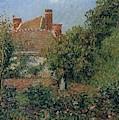 Kitchen Garden In Eragny, Afternoon, 1901 by Camille Pissarro