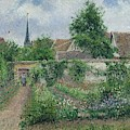 Kitchen Garden, Overcast Morning, Eragny, 1891  by Camille Pissarro
