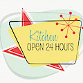 Kitchen Open 24 Hours- Art By Linda Woods by Linda Woods