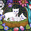 Kittens In A Basket by Linda Mears