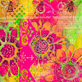 Kjp_environment_bee_pink_green by Kasey Jones