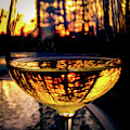 Sunset In A Glass by Atousa Raissyan