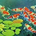 Koi Pond by Sandra Selle Rodriguez