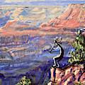 Kokopelli At The Grand Canyon  by Chance Kafka
