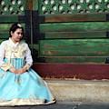 Korean Girl In Hanbok by Rick Berk