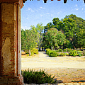 La Purisima Mission Garden From The Arcade by Glenn McCarthy Art and Photography