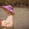 Lady In Pink Hat by Bill Posner