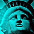 Lady Liberty In Turquoise by Rob Hans