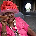 Lady Smoking Cigar, Plaza Armas by Karl Blackwell