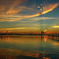 Lagoon Sunbeam Sunrise by Tom Claud