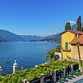 Lake Como View From Varenna Hotel by Carolyn Derstine