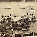 Lake Hopatcong Yacht Club Dock - 1910 by Mark Miller