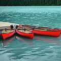 Lake Louise Canoes by Ian Robert Knight