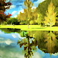 Lake Reflection - Faux Painted by Bill Barber
